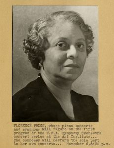 Portrait of composer, organist and pianist Florence Price.Source: E. Azalia Hackley Collection, Detroit Public Library - https://digitalcollections.detroitpubliclibrary.org/islandora/object/islandora%3A197578/datastream/IMAGE/view